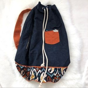 Spartina 449 Large Drawstring Duffel Shoulder Bag